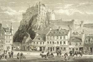 Castle and Grassmarket, Edinburgh in C.1880, from 'scottish Pictures' Published by the Religious…