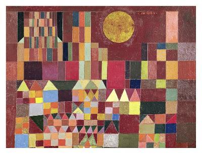 Castle and Sun (detail)-Paul Klee-Art Print