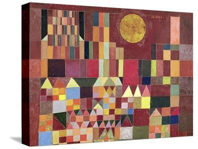 Castle and Sun (detail)-Paul Klee-Stretched Canvas Print