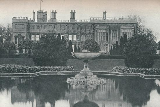 'Castle Ashby, Northants: South Side, With Fountain', c1915-Unknown-Photographic Print