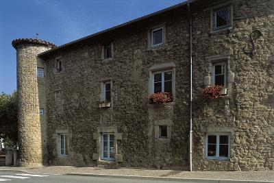 Castle at a Roadside, Villars, Rhone-Alpes, France--Photographic Print