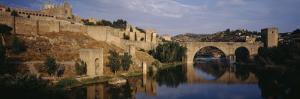 Castle at the Waterfront, Puente de San Martin, Tajo River, Toledo, Spain