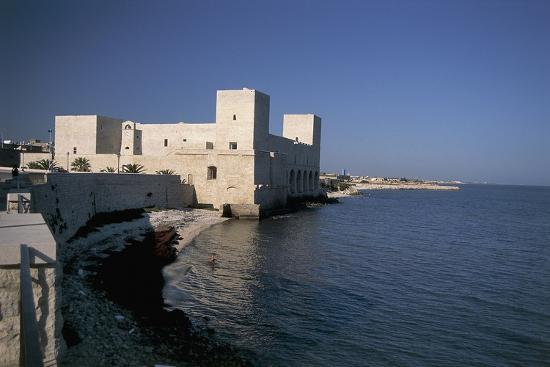 Castle at the Waterfront, Trani, Puglia, Italy--Photographic Print