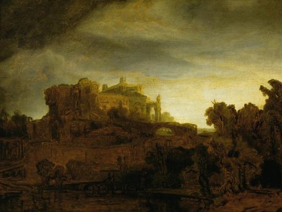 Castle at Twilight, 1640-Rembrandt van Rijn-Giclee Print
