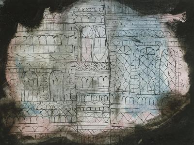 Castle Burning; Schloss in Flammen-Paul Klee-Giclee Print