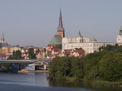 Castle, Cathedral and River Odra, Szczecin, West Pomerania, Poland, Europe-Rolf Richardson-Photographic Print