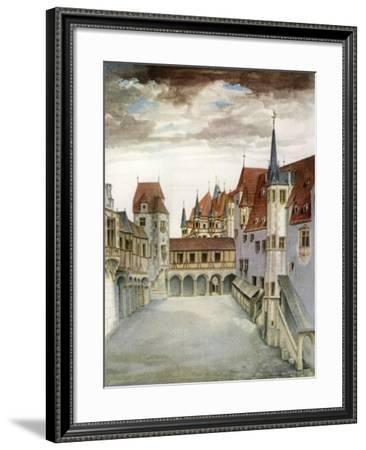 Castle Courtyard, Innsbruck, 16th Century-Albrecht Durer-Framed Giclee Print