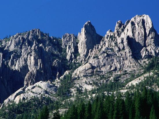 Castle Crags from South, California-John Elk III-Photographic Print