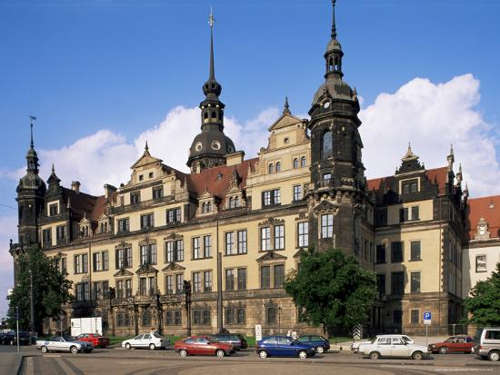 Castle, Dresden, Saxony, Germany-Hans Peter Merten-Photographic Print