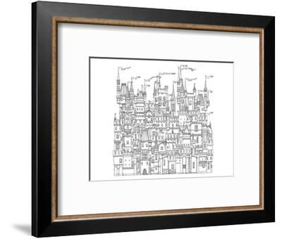 Castle & Fortress Coloring Art--Framed Coloring Poster