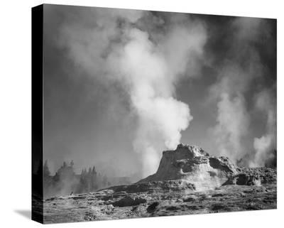 Castle Geyser Cove, Yellowstone National Park, Wyoming, ca. 1941-1942-Ansel Adams-Stretched Canvas Print