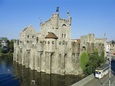 Castle, Ghent, Belgium-Charles Bowman-Photographic Print