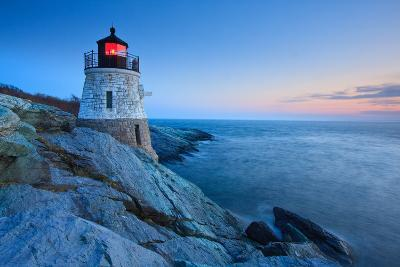 Castle Hill Lighthouse at Dusk-enfig-Photographic Print