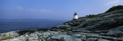 Castle Hill Lighthouse at the Seaside, Newport, Newport County, Rhode Island, USA--Photographic Print