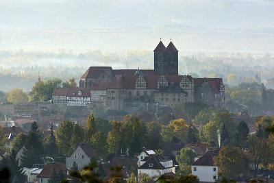 Castle Hill with Collegiate Church St. Servatius in the Morning Haze, UNESCO World Heritage-Andreas Vitting-Photographic Print