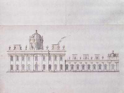 Castle Howard, Yorkshire: a Schematic Pencil Sketch Showing the Development of the Forecourt…-Sir John Vanbrugh-Giclee Print