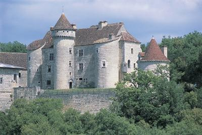 Castle in a Forest, Vaillac Castle, Aquitaine, France--Photographic Print
