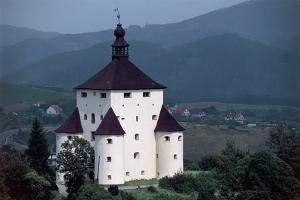Castle in Front of Mountains, New Castle, Banska Stiavnica, Slovakia
