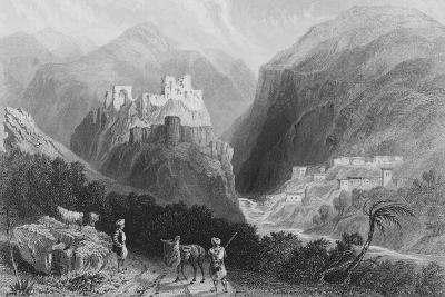 Castle in Mount Amana, Near the Khan Karamont-William Henry Bartlett-Giclee Print