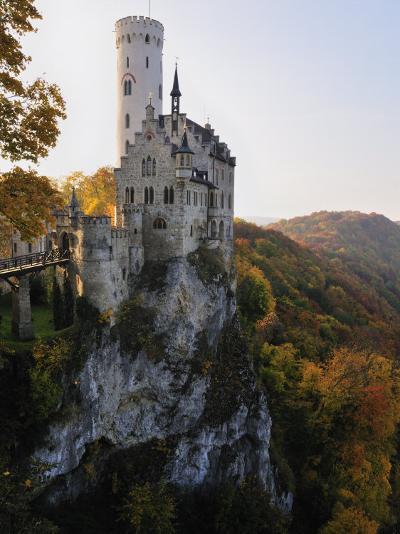 Castle Liechtenstein, Schwaebische Alb, Baden-Wurttemberg, Germany, Europe-Jochen Schlenker-Photographic Print