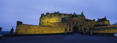 Castle Lit Up at Dusk, Edinburgh Castle, Edinburgh, Scotland, United Kingdom--Photographic Print