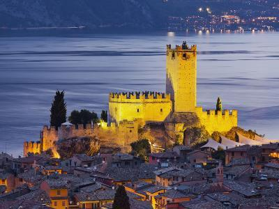 Castle of Malcesine at the Gardasee, Veneto, Italy-Rainer Mirau-Photographic Print