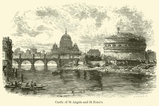 Castle of St Angelo and St Peter's--Giclee Print