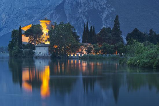 Castle of Toblino in the Lago Tu Santa Massenza, Trentino, Italy-Rainer Mirau-Photographic Print