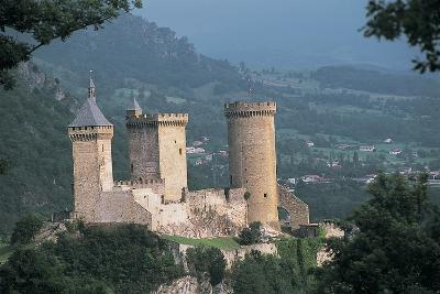 Castle on a Hill, Foix, Midi-Pyrenees, France--Photographic Print