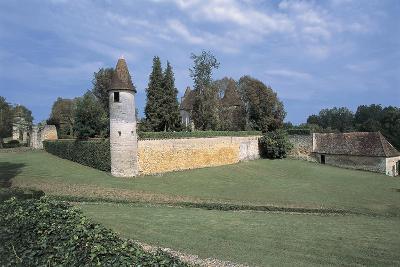 Castle on a Landscape, Mauriac Castle, Douzillac, Aquitaine, France--Giclee Print