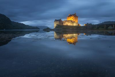 Castle On An Island In Scotland-Philippe Manguin-Photographic Print