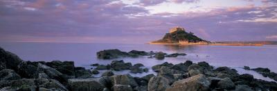 Castle on Top of a Hill, St. Michael's Mount, Cornwall, England