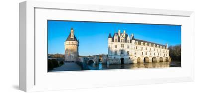 Castle over a river, Chateau De Chenonceau, Cher River, Chenonceaux, Indre-et-Loire, France--Framed Photographic Print