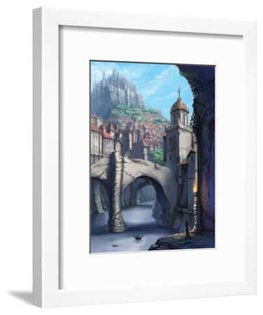 Castle over the Town-Kyo Nakayama-Framed Giclee Print