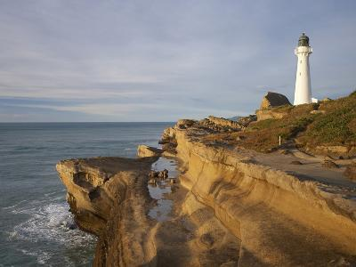 Castle Point Lighthouse, Castlepoint, Wairarapa, North Island, New Zealand-David Wall-Photographic Print