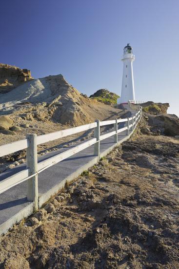 Castle Point Lighthouse, Wellington, North Island, New Zealand-Rainer Mirau-Photographic Print