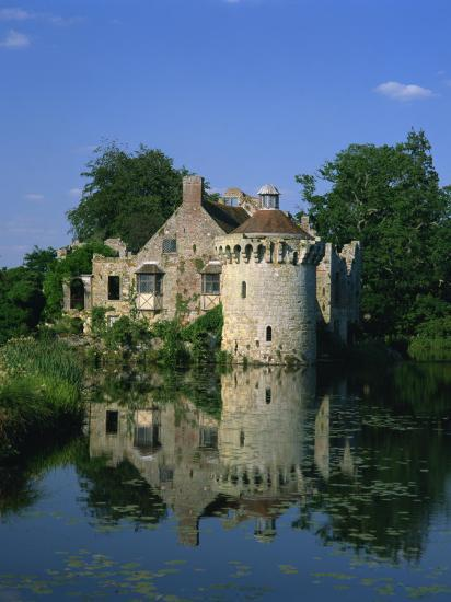 Castle Reflected in Lake, Scotney Castle, Near Lamberhurst, Kent, England, United Kingdom, Europe-Tomlinson Ruth-Photographic Print