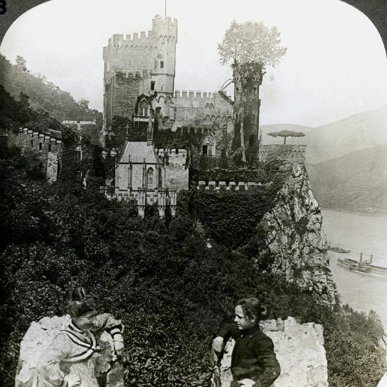 Castle Rheinstein, Near Bingen, Germany-Underwood & Underwood-Photographic Print