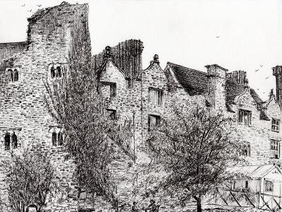 Castle Ruins at Hay on Wye, 2007-Vincent Alexander Booth-Giclee Print