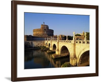 Castle San Angelo, Rome, Italy-Hans Peter Merten-Framed Photographic Print