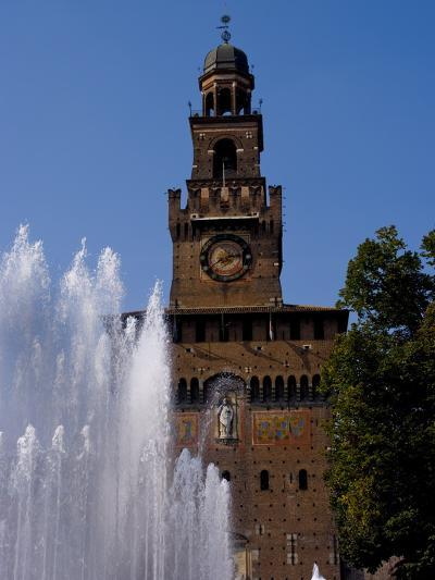 Castle Sforzesco, Milan, Lombardy, Italy, Europe-Charles Bowman-Photographic Print