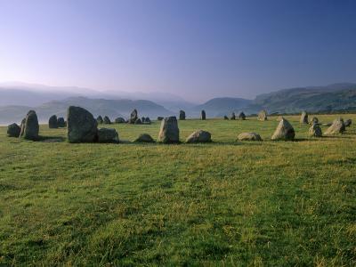 Castlerigg Stone Circle at Dawn, Near Keswick, Lake District National Park, Cumbria, England-Patrick Dieudonne-Photographic Print