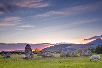 Castlerigg Stone Circle at Sunset-Julian Elliott-Photographic Print
