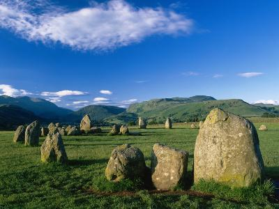 Castlerigg Stone Circle, the Lake District, UK-Ian West-Photographic Print