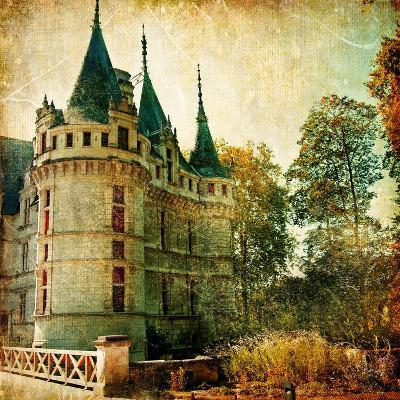 Castles Of France - Vintage Series-Maugli-l-Art Print