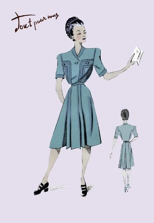 casual-dress-in-turquoise-1947