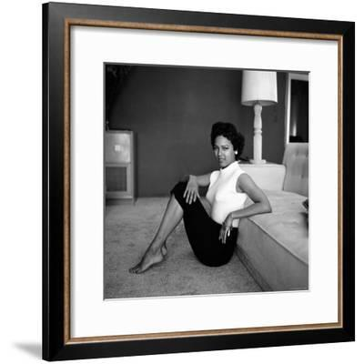 Casual Portrait of Actress Dorothy Dandridge at Home-Allan Grant-Framed Premium Photographic Print