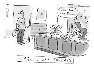 Casual Sex Fridays New Yorker Cartoon Danny Shanahan Premium Giclee Print