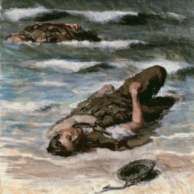 Casualty on the Beach at Dieppe, 1945-Alfred Hierl-Giclee Print