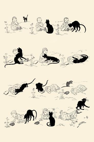Cat and Baby-Th?ophile Alexandre Steinlen-Art Print